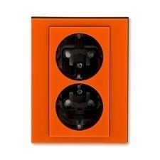 ABB 5522H-C03457 66 Jiné systémy zásuvek Zásuvka dvojnásobná s ochrannými kontakty (podle DIN), s cl