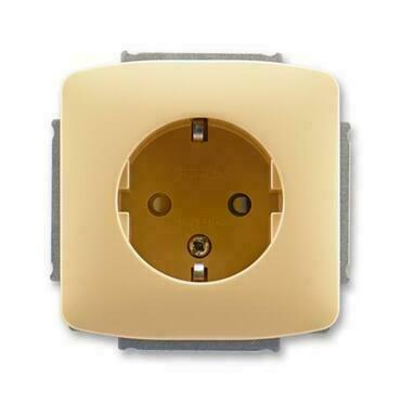 ABB 5518A-A3459 DX Jiné systémy zásuvek Zásuvka jednonásobná s ochr. kontakty (podle DIN), s clonkam