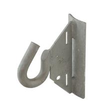 Hák, D = 16 mm, pro montáž ocelovou páskou 19x0,75 mm, Fx = 17,8 kN, Fy = 12,5 kN, K = 85 mm