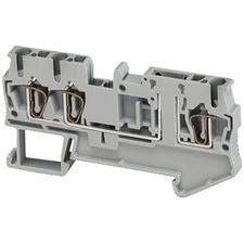 SCHN NSYTRR23TB Pružinová svorka rozpojovací, 3 body 4mm2 šedá (obj. mn. 50ks) RP 0,01kč/ks