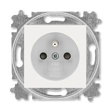 ABB 5519H-A02357 68 Levit Zásuvka jednonásobná s ochranným kolíkem, s clonkami