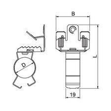 BCVPC 8-12,5 D25 Nosníková svorka