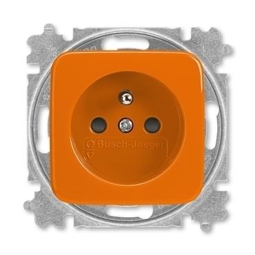 ABB 5519B-A02357 P Zásuvka jednonásobná chráněná, s clonkami, s bezšroub. svorkami Zdravotnictví