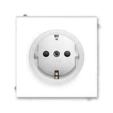 ABB 5518M-A03459 01 Jiné systémy zásuvek Zásuvka jednonásobná s ochrannými kontakty (podle DIN), s c