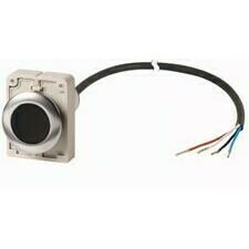 EATON 185967 C30C-FDR-S-K01-P65 Kompaktní zapuštěné tlačítko s kabelem 3.5m a volným koncem, s areta