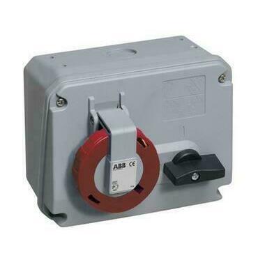ABB 2CMA167818R1000 Průmyslové vidlice a z. Zásuvka s blokovaným vypínačem, horizontální, 5p., 16 A,