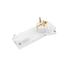 FAM Vidlice 1110 IP20/230V/16A s ochranným kolíkem, PVC, bílá, extra plochá
