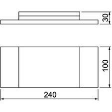 BSK-K1016 Nástěnný krycí rámeček