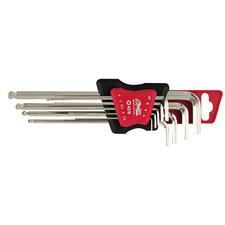 NG NS 420740  Sada imbusových klíčů 9-dílů, velikost - 1,5-10mm, s kulovou hlavou