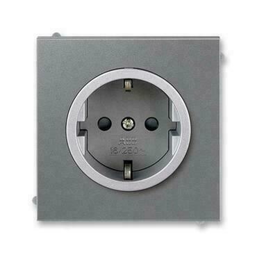 ABB 5518M-A03459 73 Jiné systémy zásuvek Zásuvka jednonásobná s ochrannými kontakty (podle DIN), s c