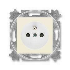 ABB 5519H-A02357 17 Levit Zásuvka jednonásobná s ochranným kolíkem, s clonkami