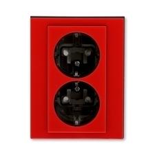 ABB 5522H-C03457 65 Jiné systémy zásuvek Zásuvka dvojnásobná s ochrannými kontakty (podle DIN), s cl