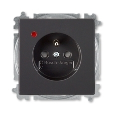 ABB 5599B-A0235781 Future Zásuvka jednonásobná s ochr. kolíkem, s ochranou před přepětím