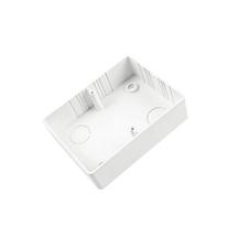 EL 1000039 Krabice lištová KL 80x28 2 ZSK, (hloubka 28mm), pod dvojzásuvku, bílá, na omítku