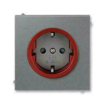 ABB 5518M-A03459 71 Jiné systémy zásuvek Zásuvka jednonásobná s ochrannými kontakty (podle DIN), s c