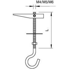 457 M4x55 G Sklápěcí závěs