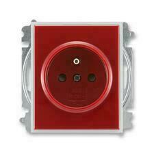 ABB 5519E-A02357 10 Element Zásuvka jednonásobná, chráněná, s clonkami, s bezšroub. sv.