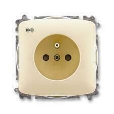 ABB 5589A-A02357 C Tango Zásuvka s přepěťovou ochranou, s akustickou signalizací poruchy