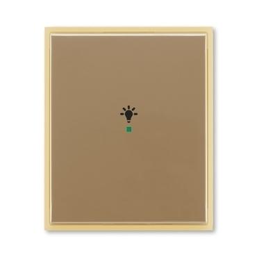 """ABB 6220E-A01001 25 free@home Kryt 1násobný, symbol """"osvětlení"""""""