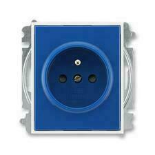 ABB 5519E-A02357 14 Element Zásuvka jednonásobná, chráněná, s clonkami, s bezšroub. sv.