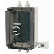 EATON 104645 NZM1-XCI43/2-TVD Skříň IP65, rukojeť černo/šedá, uzamyk, NZM1, do 160A