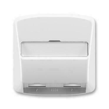 ABB 5013A-A00252 S Tango Kryt zásuvky ISDN průchozí, dvojnásobné