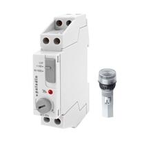 EL 1008163 Spínač soumrakový PALADIN 923501, 1-1000lux, 16A, s ext. čidlem (16mm), IP65, šedý, na DI