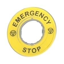 SCHN ZBY9320 3D kruhový štítek pro nouzové zastavení, EMERGENCY STOP