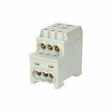 EL 1006064 Blok pro rozdělení fází UVB 200 L G, 1pól., 200A, 1000V, šedý, na DIN