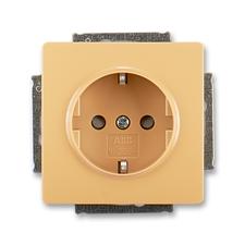 ABB 5518G-A03459 D1 Jiné systémy zásuvek Zásuvka jednonásobná s ochr. kontakty (podle DIN), s clonka