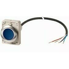 EATON 185952 C30C-FDRL-B-K10-24-P62 Kompakt prosvětlené zapuštěné tlačítko kabel 1m volný konec, s a