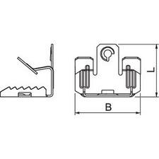 BCUIT 8-12,5 M6 Nosníková svorka