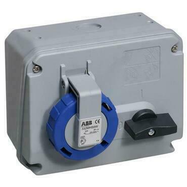 ABB 2CMA167894R1000 Průmyslové vidlice a z. Zásuvka s blokovaným vypínačem, horizontální, 3p., 63A 2