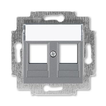 ABB 5014H-A01018 69 Kryt zásuvky komunikační přímé (2x), s kovovým upevňovacím třmenem Levit
