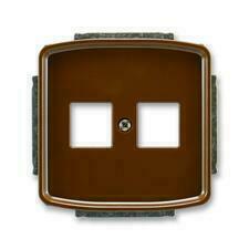 ABB 5014A-A02018 H Tango Kryt zásuvky komunikační přímé (2x), s kovovým upevňovacím třmenem