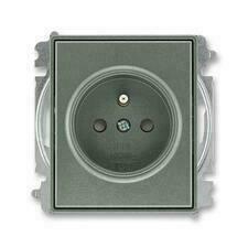 ABB 5519E-A02357 34 Time Zásuvka jednonásobná, chráněná, s clonkami, bezšroubové svorky