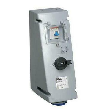 ABB 2CMA167756R1000 Průmyslové vidlice a z. Zásuvka s blokovaným vypínačem a proud. chráničem, 3p.,