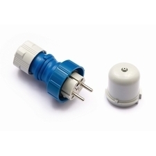 FAM Vidlice 23960 IP67/230V/16A - domovní, modro-šedá