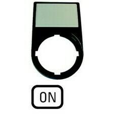 EATON 216496 M22S-ST-GB6 Nosiče štítků-komplety, 30x50mm, oblé, černé ON