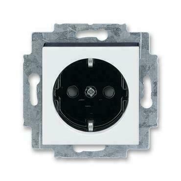 ABB 5520H-A03457 62 Jiné systémy zásuvek Zásuvka jednonásobná s ochrannými kontakty (podle DIN), s c