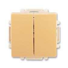 ABB 3557G-A87340 D1 Ovládač zapínací dvojitý, řazení 1/0+1/0, s krytem Swing