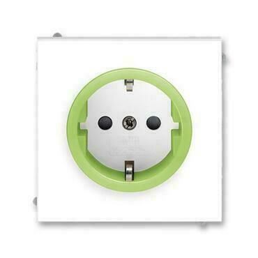 ABB 5518M-A03459 42 Jiné systémy zásuvek Zásuvka jednonásobná s ochrannými kontakty (podle DIN), s c