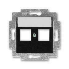 ABB 5014H-A01018 63 Levit Kryt zásuvky komunikační přímé (2x), s kovovým upevňovacím třmenem