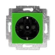 ABB 5520H-A03457 67 Jiné systémy zásuvek Zásuvka jednonásobná s ochrannými kontakty (podle DIN), s c