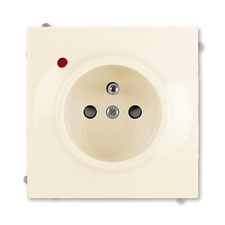 ABB 5599B-A0235772 Impuls Zásuvka jednonásobná s ochr. kolíkem, s ochranou před přepětím
