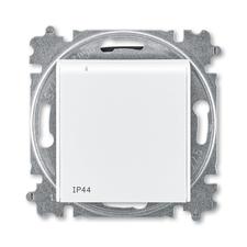 ABB 5519H-A02997 03 Zásuvka jednonásobná s ochr. kolíkem, s clonkami, s víčkem, IP44 IPxx