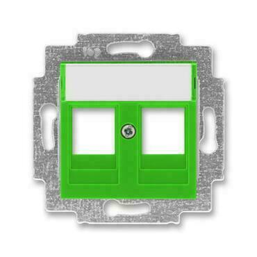 ABB 5014H-A01018 67 Levit Kryt zásuvky komunikační přímé (2x), s kovovým upevňovacím třmenem