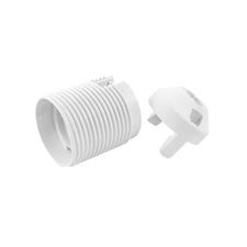 EL 1000271 Objímka plastová E27, typ: 81 (1352-13400) - bílá, s vnějším závitem, s čepičkou