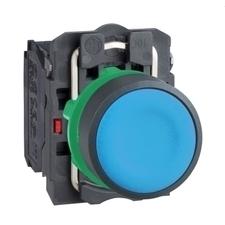 SCHN XB5AA65 Ovládač stiskací lícující, 1 Z + 1 V, modrý RP 0,05kč/ks