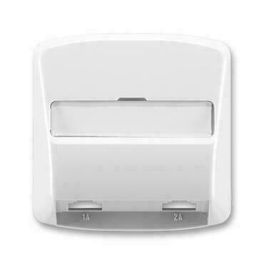 ABB 5013A-A00215 S Tango Kryt zásuvky telefonní, dvojnásobné (pro přístroj 5013U)